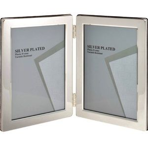 5x7 Silver Plated Double Photo Frame!